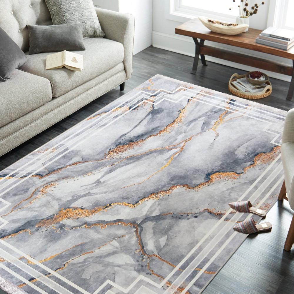 Stylový koberec šedé barvy