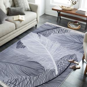 Protiskluzový koberec s motivem pírek