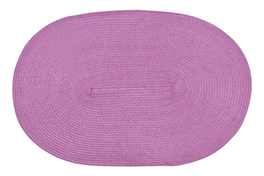 Růžové oválné prostírání na stůl