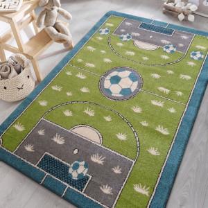 Dětský koberec s fotbalovým hřištěm
