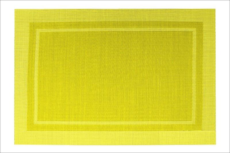 Designové prostírání ve žluté barvě na stůl