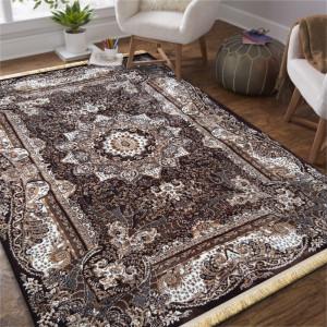 Hnědý vintage koberec s mandalou