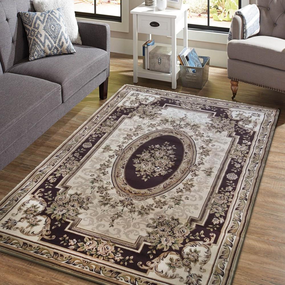 Vintage koberec v krásné hnědé barvě