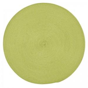 Kruhové zelené prostírání pod talíře