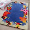 Modrý koberec se zvířátky do dětského pokoje
