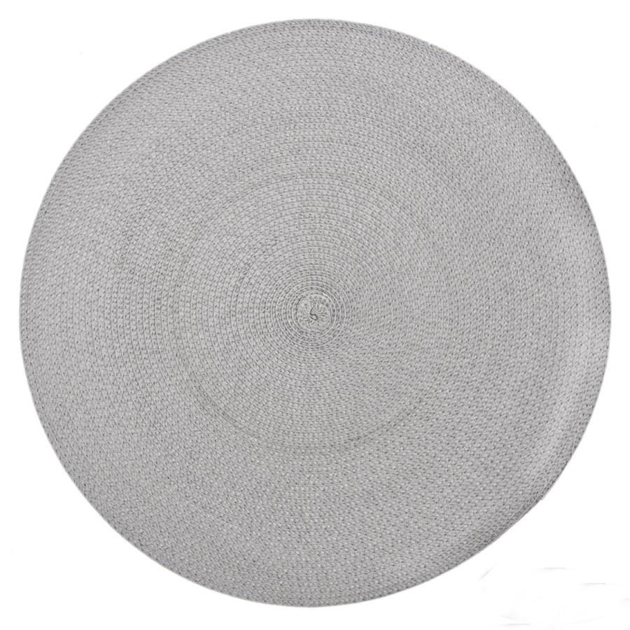 Kruhové dekorační šedé prostírání na stůl