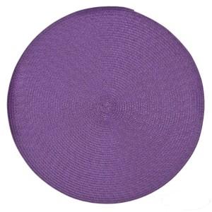 Fialové kruhové prostírání na jídelní stůl
