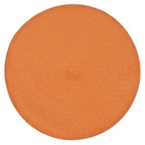 Moderní kruhové prostírání v pomerančové barvě na stůl