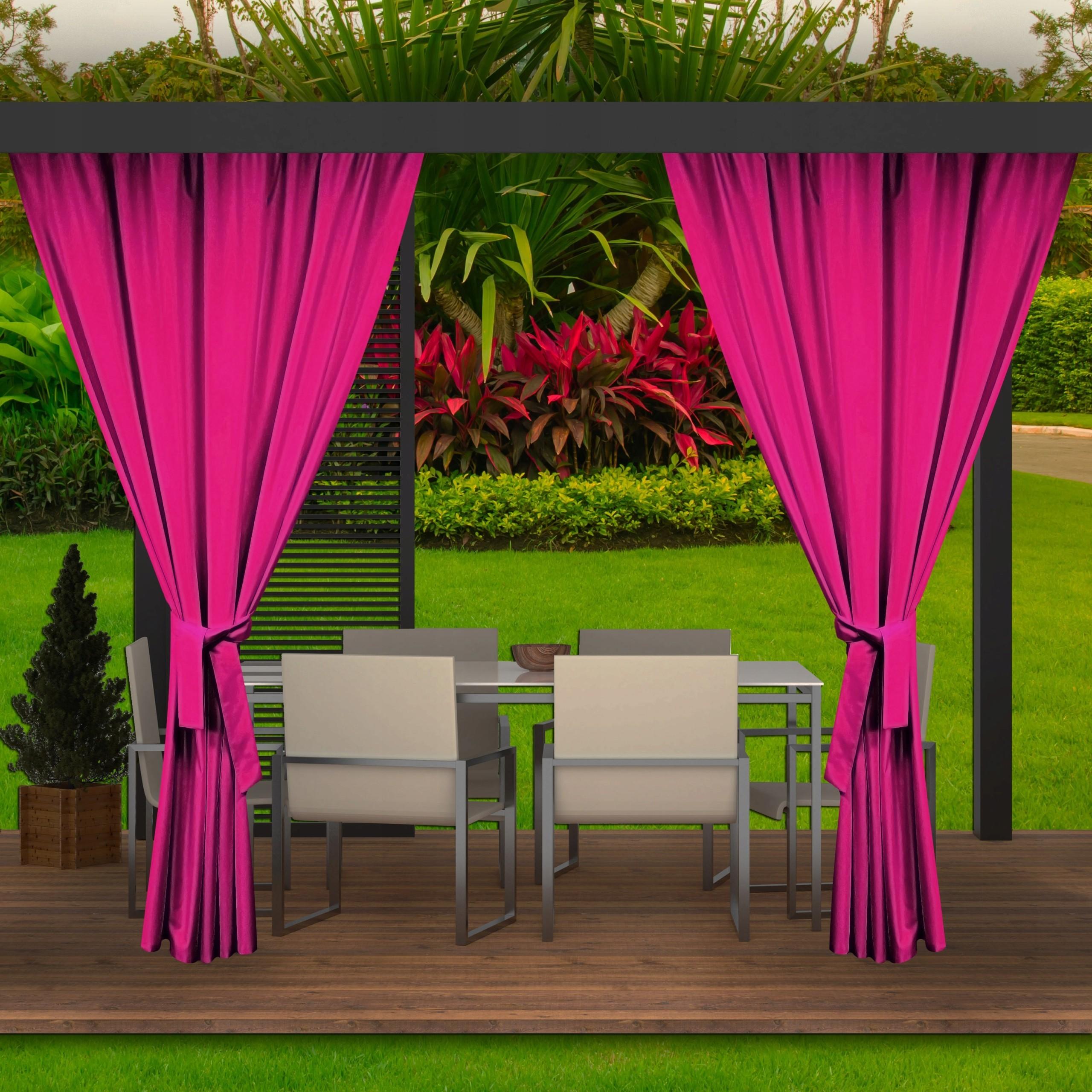 Luxusní hotový růžový zahradní závěs do altánku