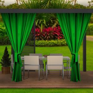 Unikátní výrazně zelené závěsy do zahradních teras a altánků