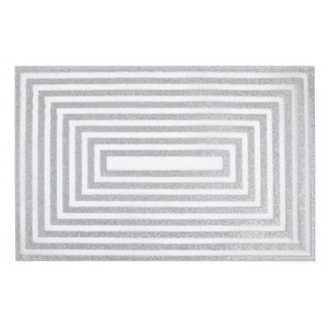 Stříbrné prostírání na stůl obdélníkového vzoru