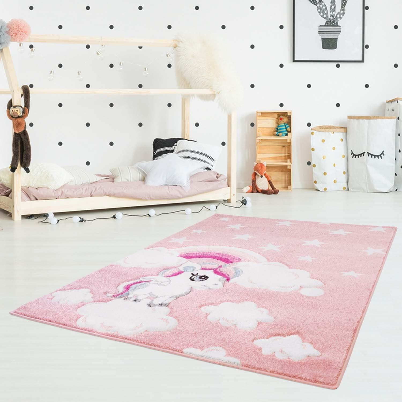 Originální dětský růžový koberec pro holčičku my little pony