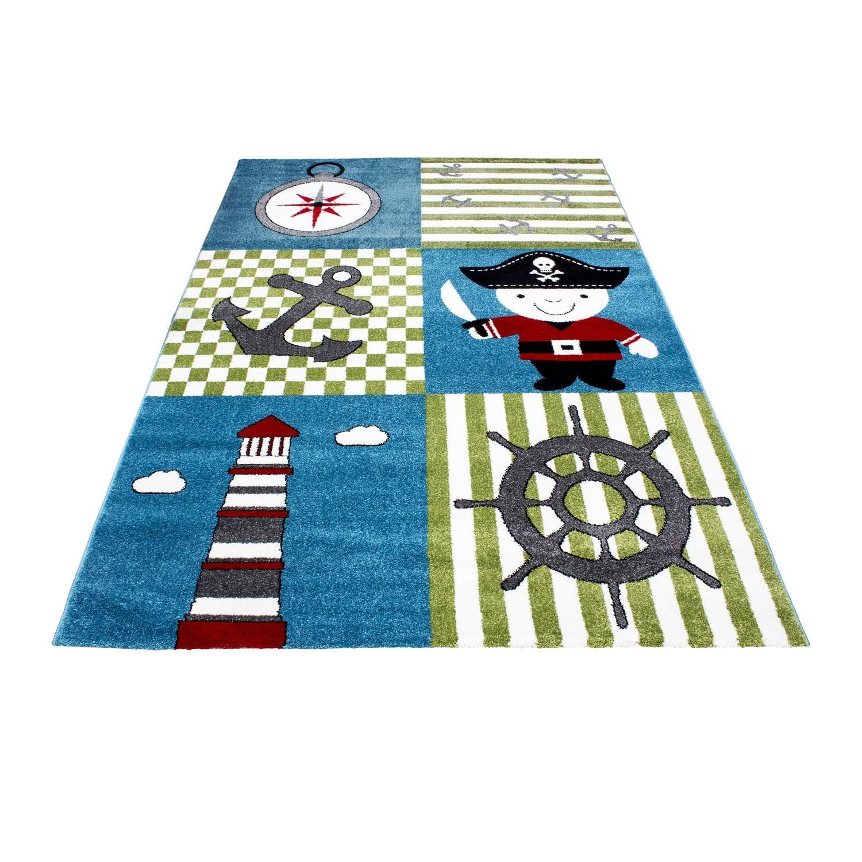 Barevný koberec pro chlapce do dětského pokoje pirát