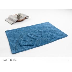 Modré bavlněné koupelnové předložky