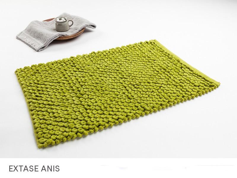 Luxusní zelené koupelnové koberečky