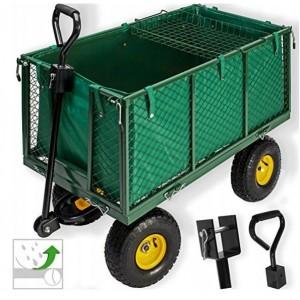 Kvalitní zahradní vozík na nafukovacích kolech 3v1