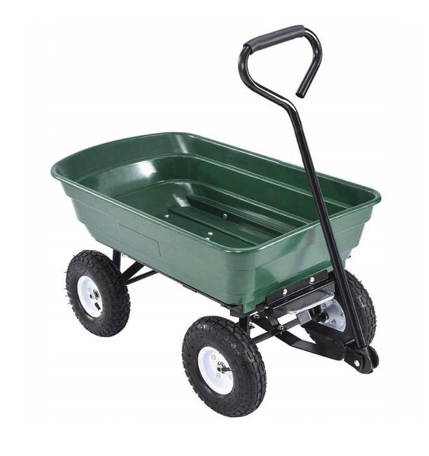Vyklápěcí zahradní vozík s pevnou rukojetí