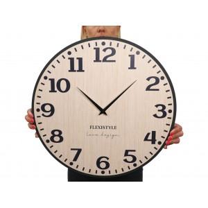 Originální nástěnné hodiny v přírodní hnědé barvě