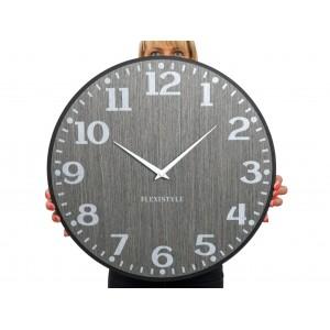 Originální nástěnné hodiny v šedé barvě