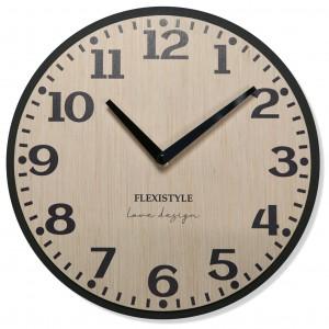 Nástěnné hodiny v přírodní hnědé barvě