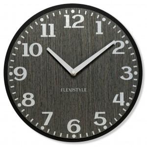 Nástěnné hodiny v šedé barvě