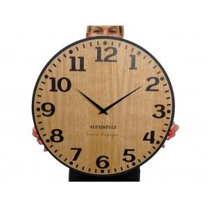Originální nástěnné hodiny v hnědé barvě