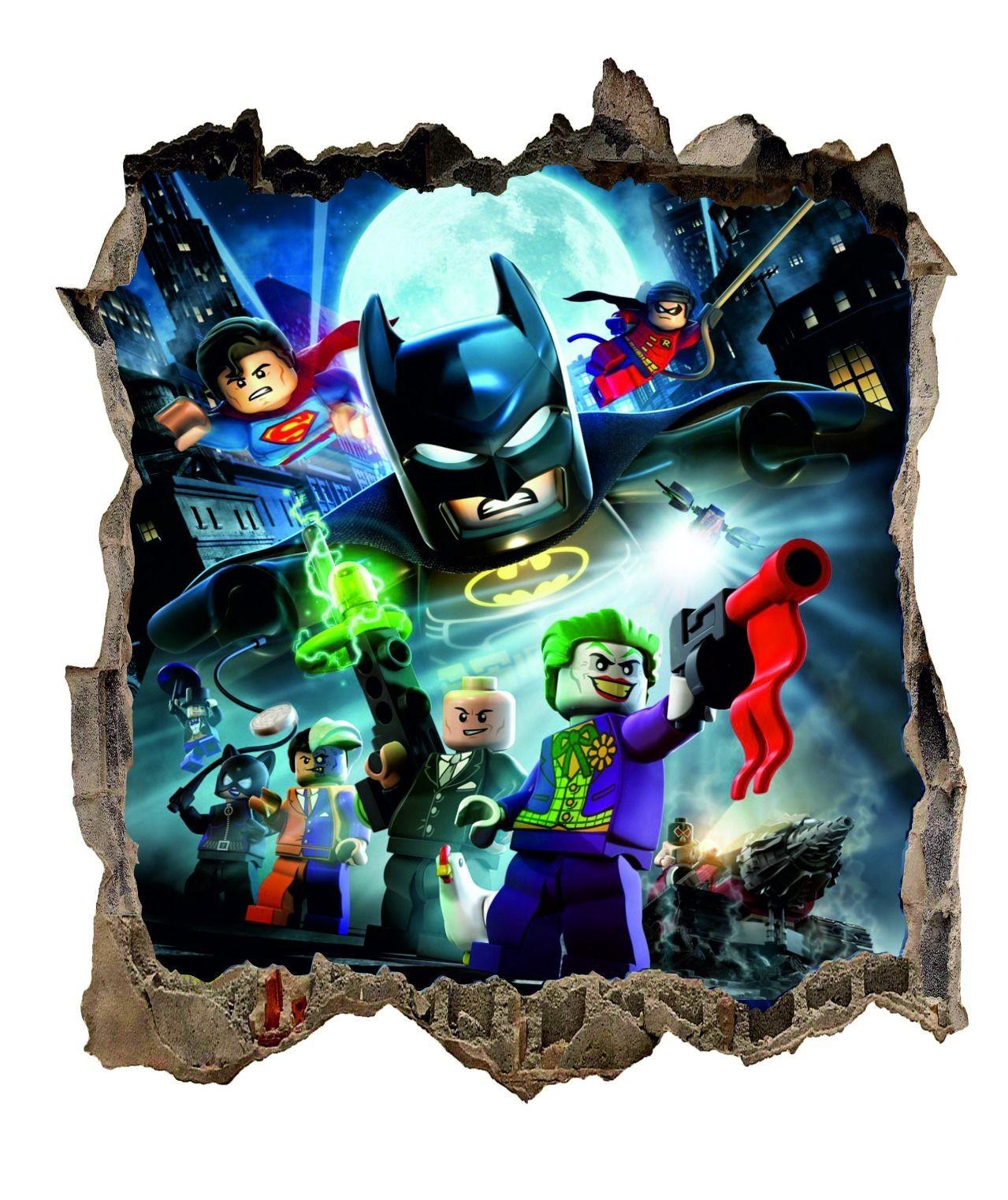 Nálepka na zeď lego Batman HIT 54x47cm