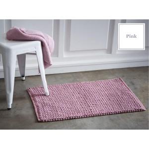 Růžové francouzské bavlněné předložky do koupelny