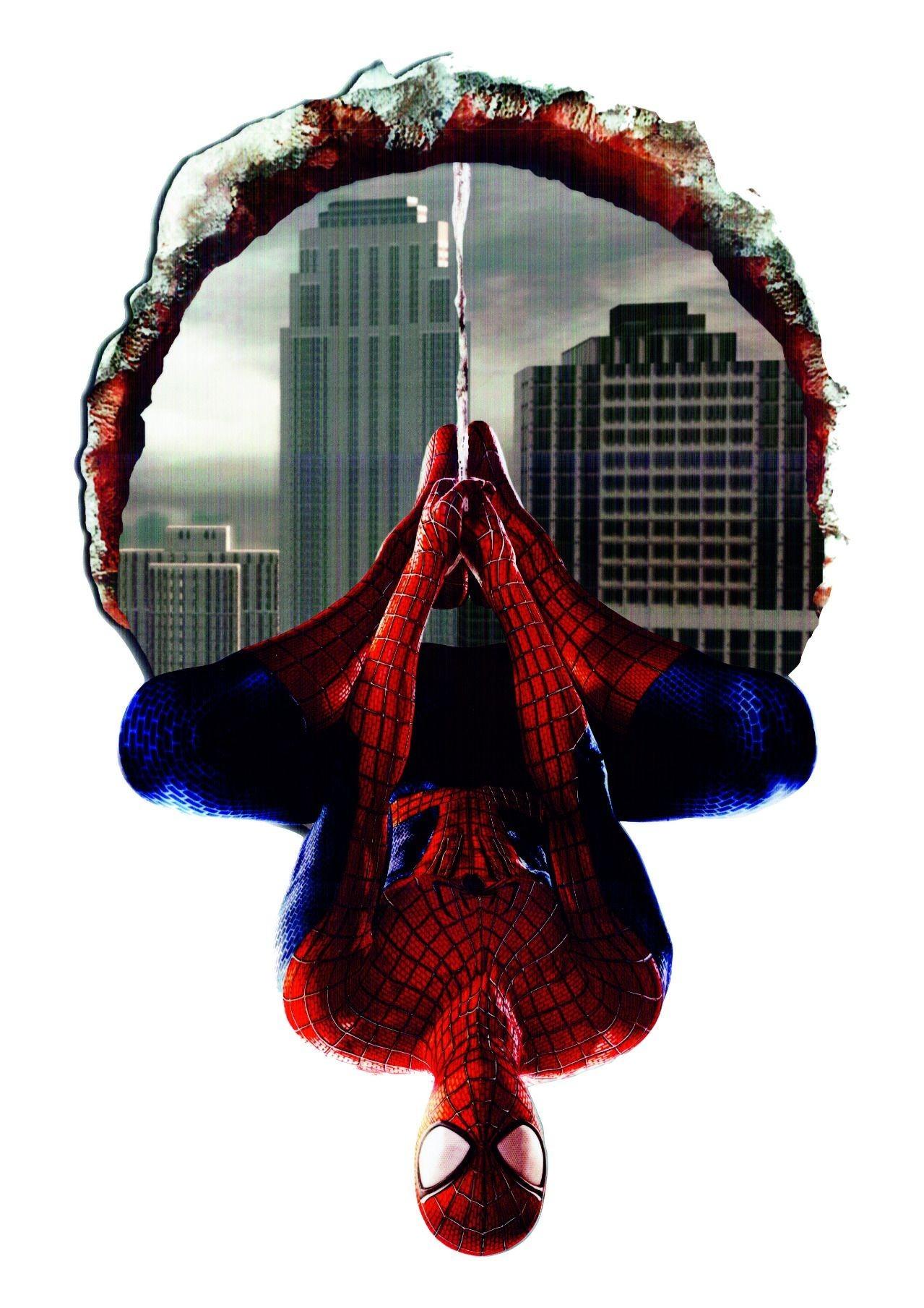 Nálepka na zeď Spiderman 3D 46x70cm