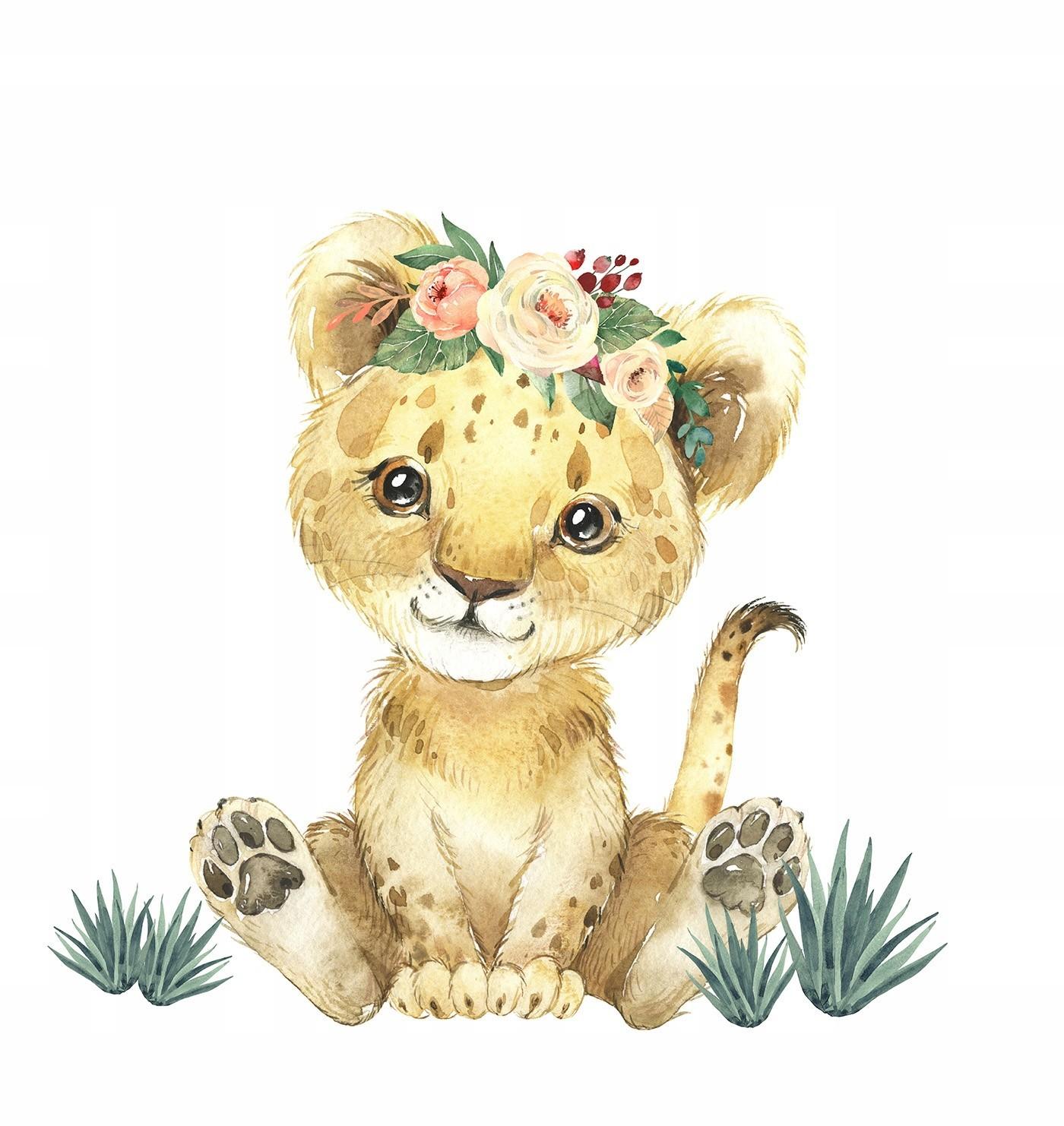 Nálepka na zeď roztomilé lvíče