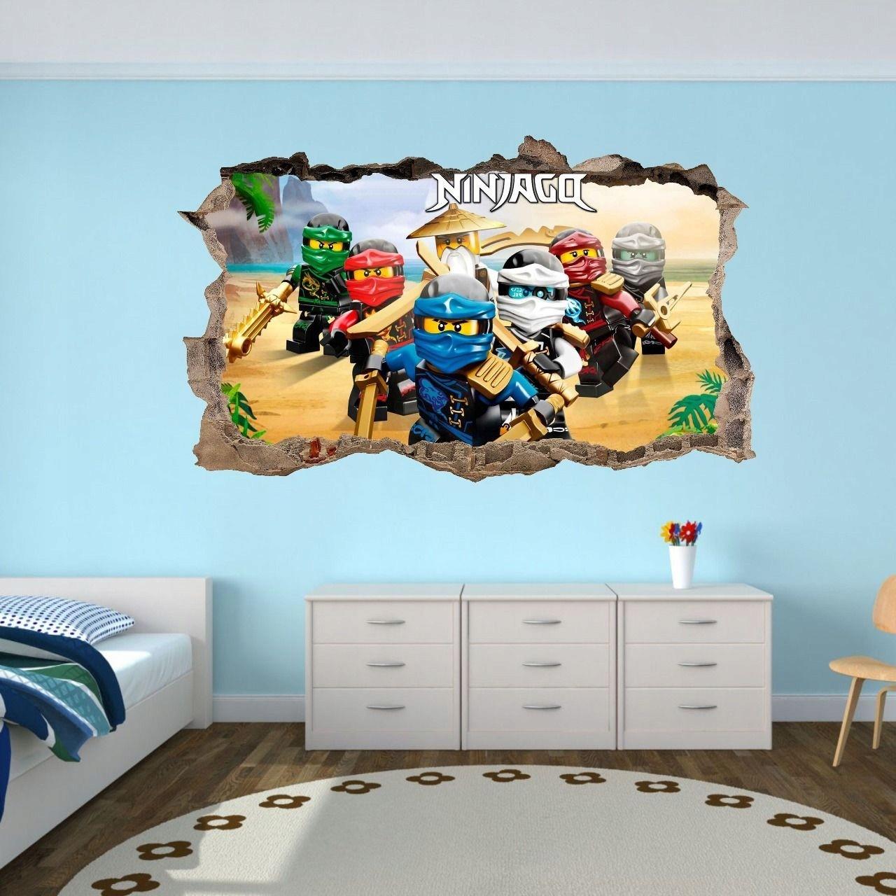 3D nálepka na zeď NINJA GO 47x77cm
