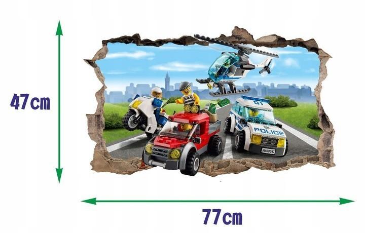 Originální nálepka na zeď s 3D efektem 47 x 77 cm LEGO