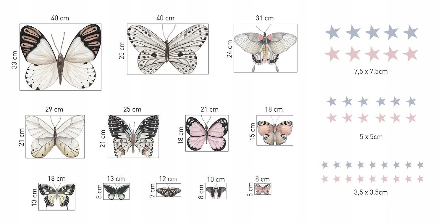 Okouzlující nálepky na stěnu motýly