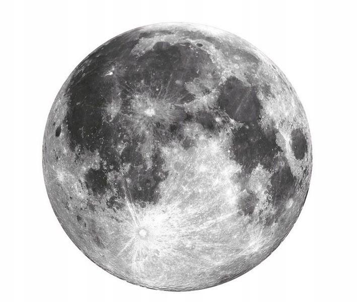 Dekorační nálepka na zeď měsíc 71 cm