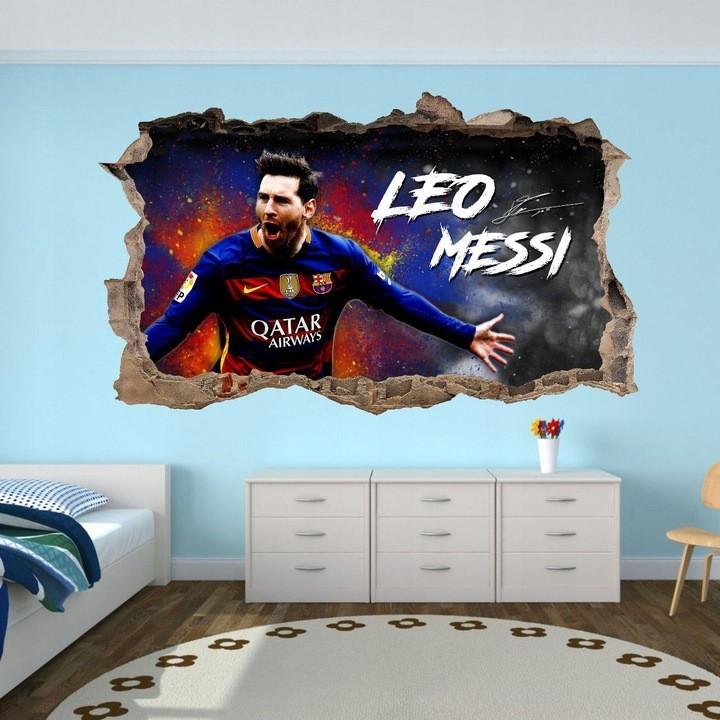 Nálepka na zeď 3D Lionel Messi 120 x 72 cm