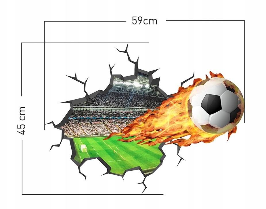Stylová nálepka na zeď pro chlapce fotbal 59 x 45 cm