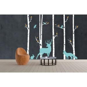 Dekorační nálepky na stěnu lesní zvířata