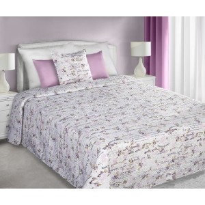 Oboustranné přehozy bílo růžové barvy na manželskou postel Beautiful Rose