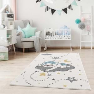 Kvalitní dětský koberec s motivem spící medvídek