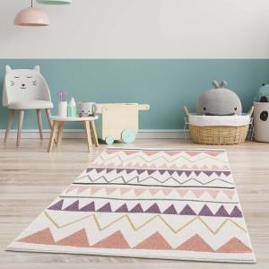 Moderní dětský barevný koberec ZIG ZAG