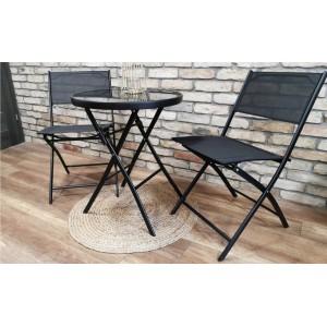 Set dvou zahradních skládacích židlí