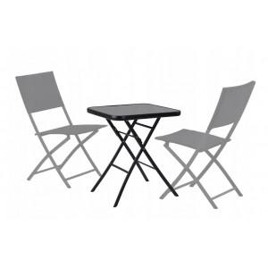 Černý skládací zahradní stůl 60 cm
