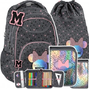 Třídílná dívčí školní taška Mickey Mouse