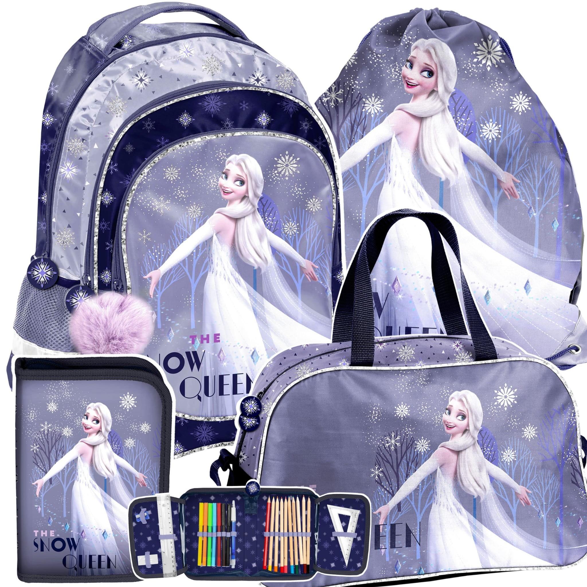 Dívčí štvorčasťový školní batoh Frozen