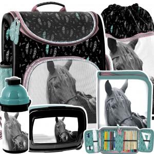 Školní taška pro milovníky koní v 5-dílné sadě
