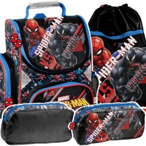 SPIDERMAN - moderní 3-dílná školní taška