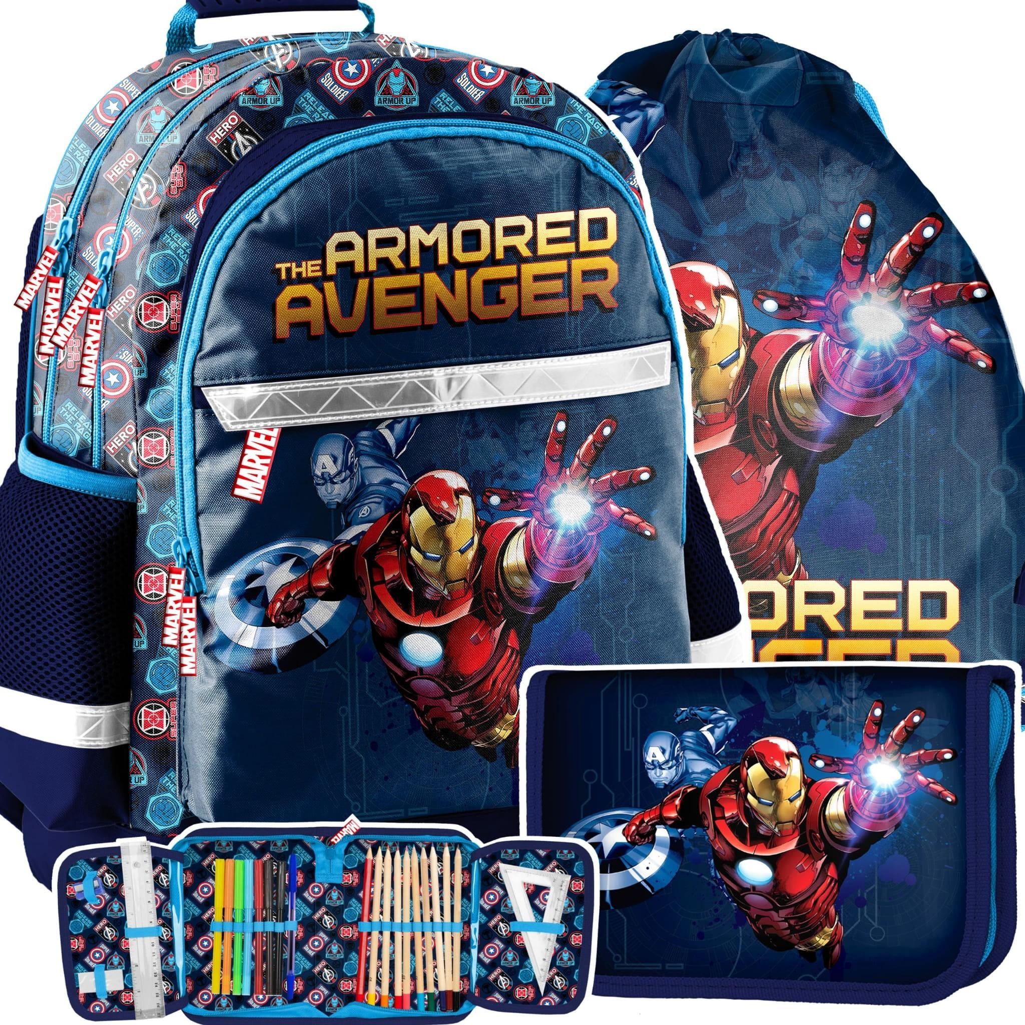 Designový školní batoh AVENGERS třídílný