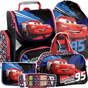 Kvalitní 4-dílná školní taška pro chlapce CARS