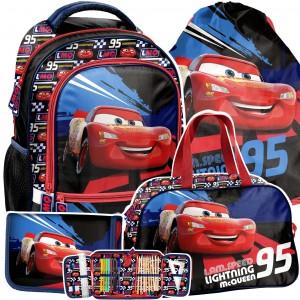Moderní 4-dílný školní batoh CARS pro chlapce