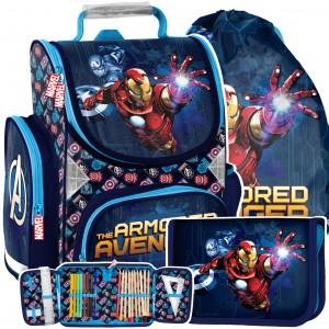 Kvalitní 3-dílná školní taška s motivem Avengers